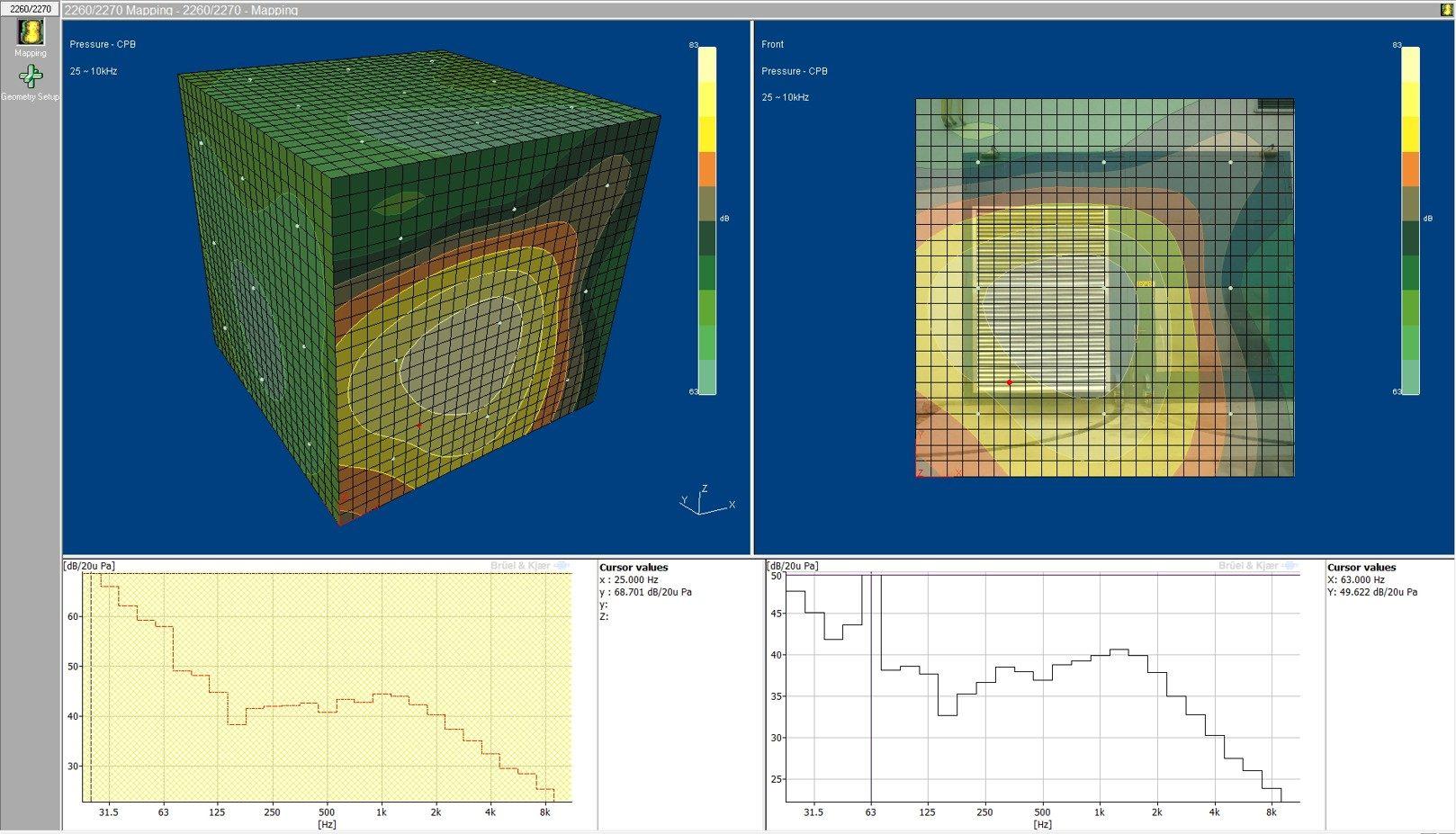 Stavební akustika měření intenzitní sondou