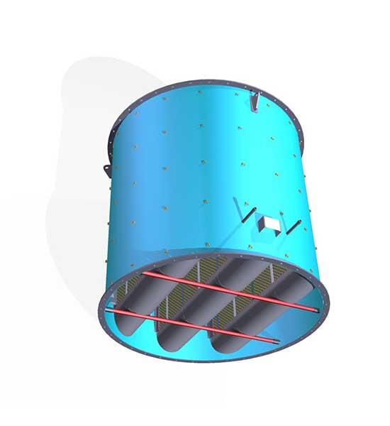 Tlumiče hluku spalinové turbíny