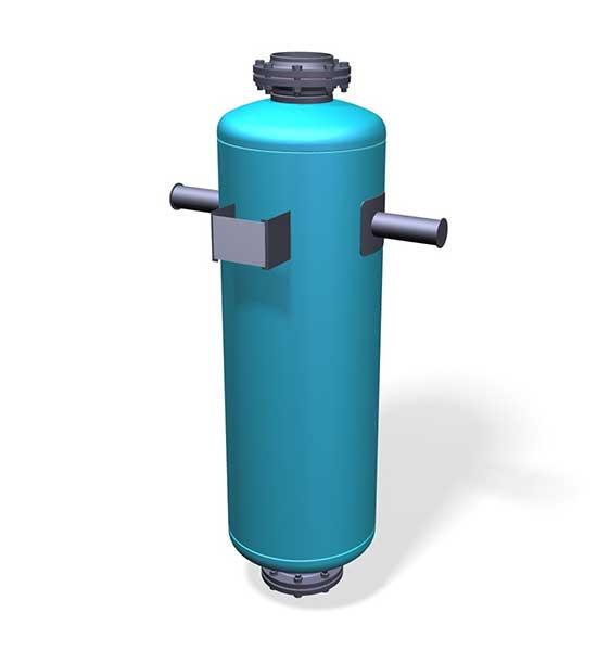 Tlumič hluku stlačené plyny
